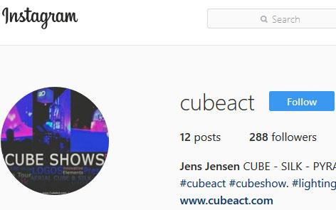 CubeAct Instagram | Jens Jensen